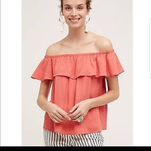 Anthropologie off the shoulder shirt